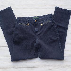 LRL Lauren Jeans Co. Deep Blue Jeans Size 6